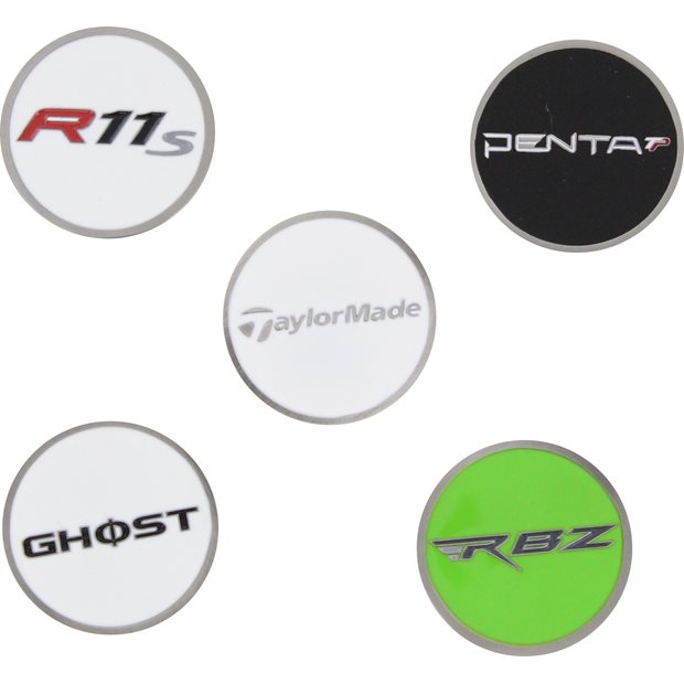 TaylorMade TM 5 Pack Ball Marker CloseOut Accessory